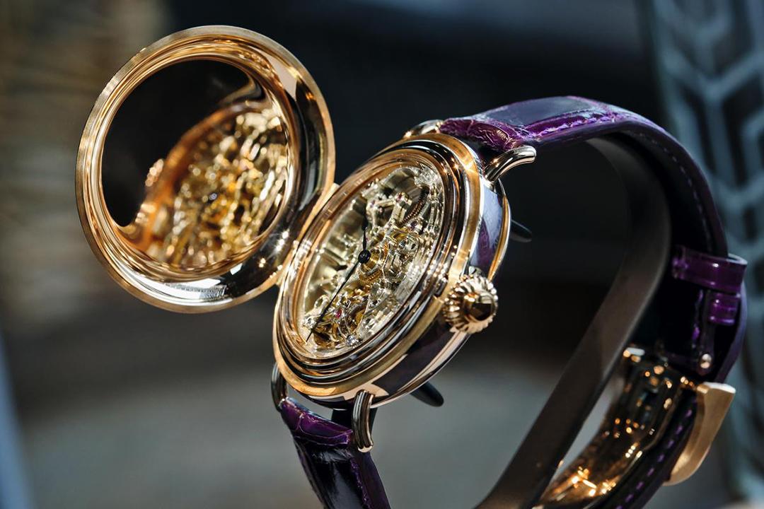 這枚Heritage Toubillon Skeleton是unique piece,以現代美感展現187年的製錶歷史。