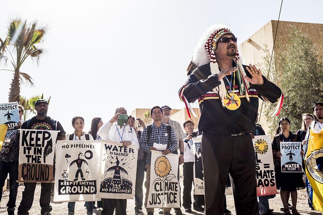加拿大曼尼托巴省(Manitoba)北部的印地安原住民領袖赫特(Kevin Hart)。