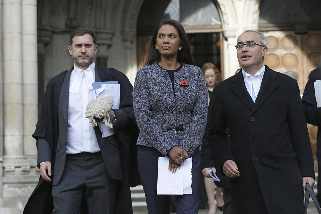 英國高等法院裁定,政府未經國會投票,不能啟動脫歐程序。圖為倫敦基金經理米勒(Gina Miller)。