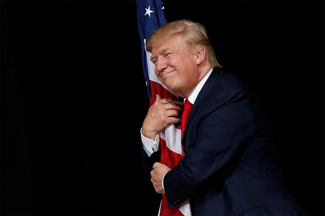 美國共和黨總統候選人特朗普(Donald Trump)。