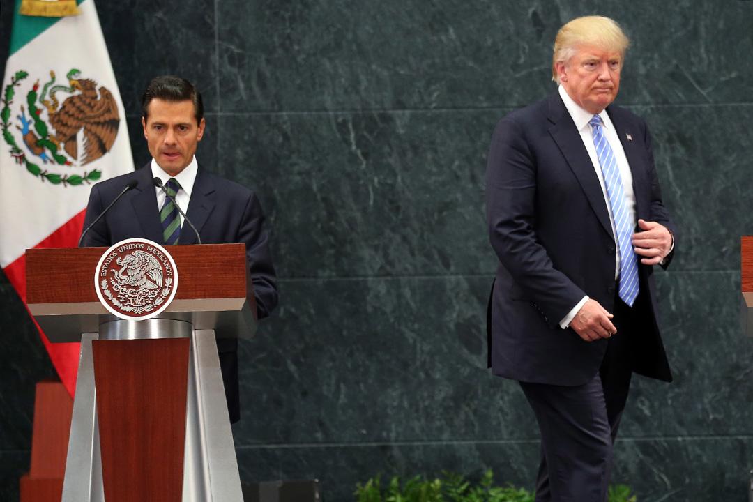 墨西哥总统涅托(Enrique Pena Nieto)与特朗普曾在8月墨西哥见面。