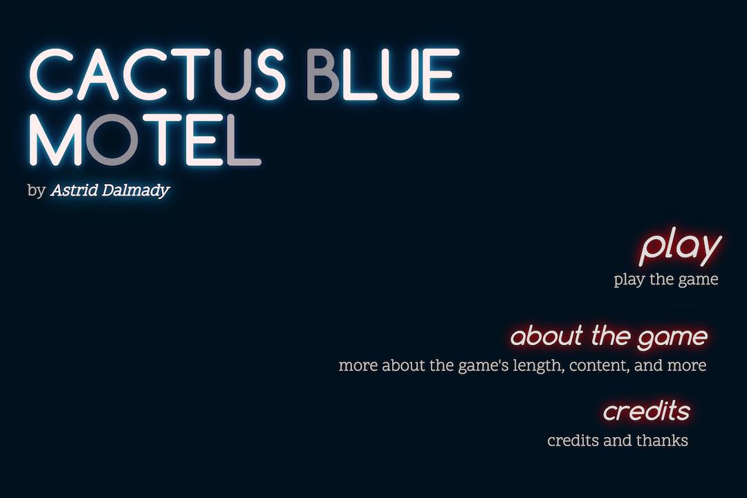 《藍色仙人掌汽車旅館》遊戲截圖。