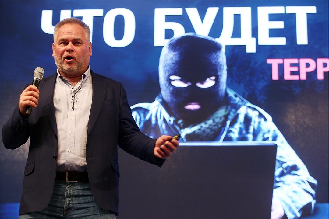 卡巴斯基指責微軟win1 捆綁殺毒軟件是反競爭行為。圖為卡巴斯基總裁Eugene Kaspersky。