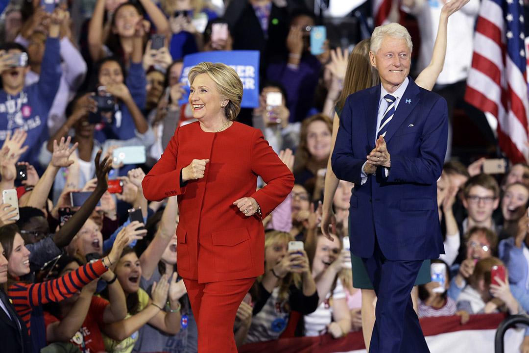 美國民主黨總統候選人希拉里。