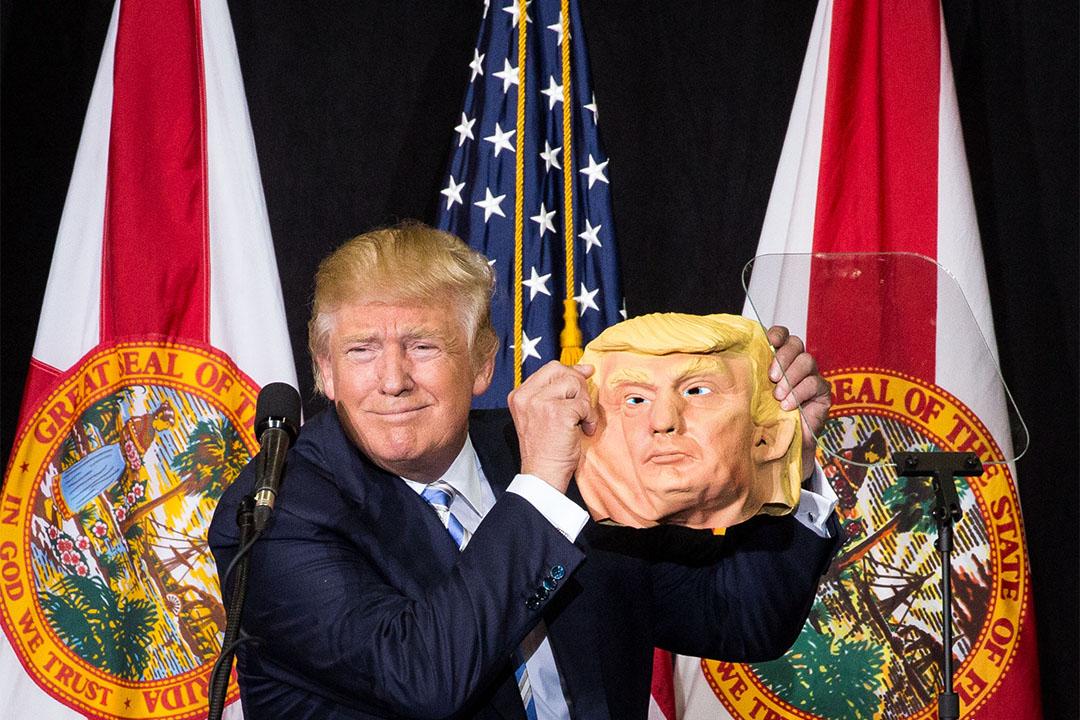2016年11月7 ,美國共和黨總統候選人特朗普(Donald Trump)在佛羅里達州薩拉索塔舉行競選集會。