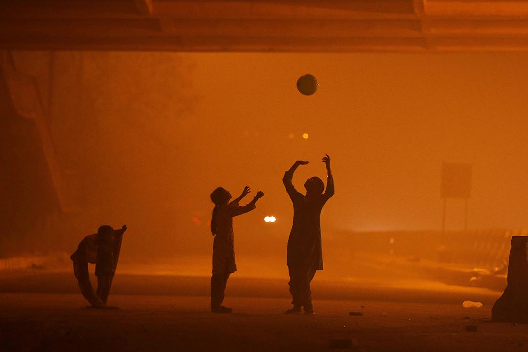 印度首都德里被霧霾籠罩。