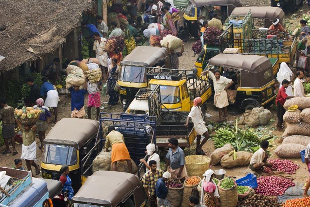 印度喀拉拉邦一個市場。