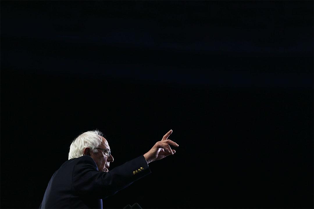 2016年美國總統大選民主黨初選候選人桑德斯(Bernie Sanders)。