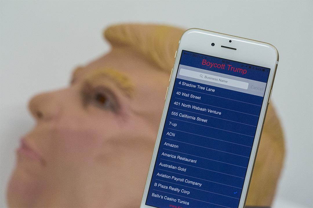 反特朗普團體出了手機app,讓反對人士在生活中用消費抵制特朗普。