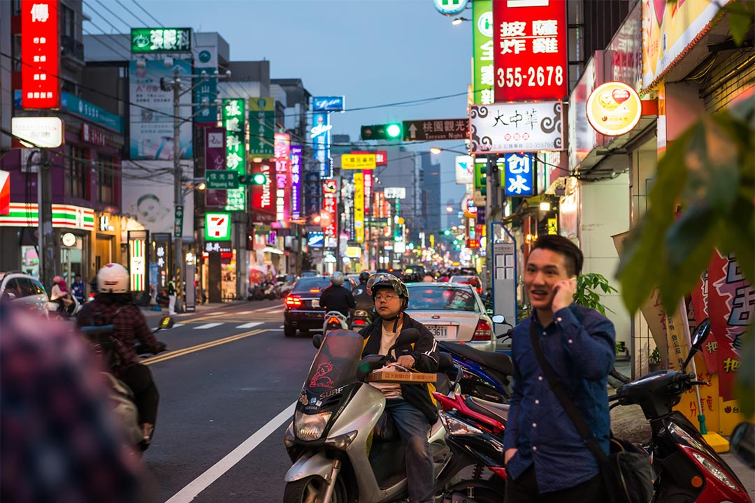 圖為台灣桃園市。