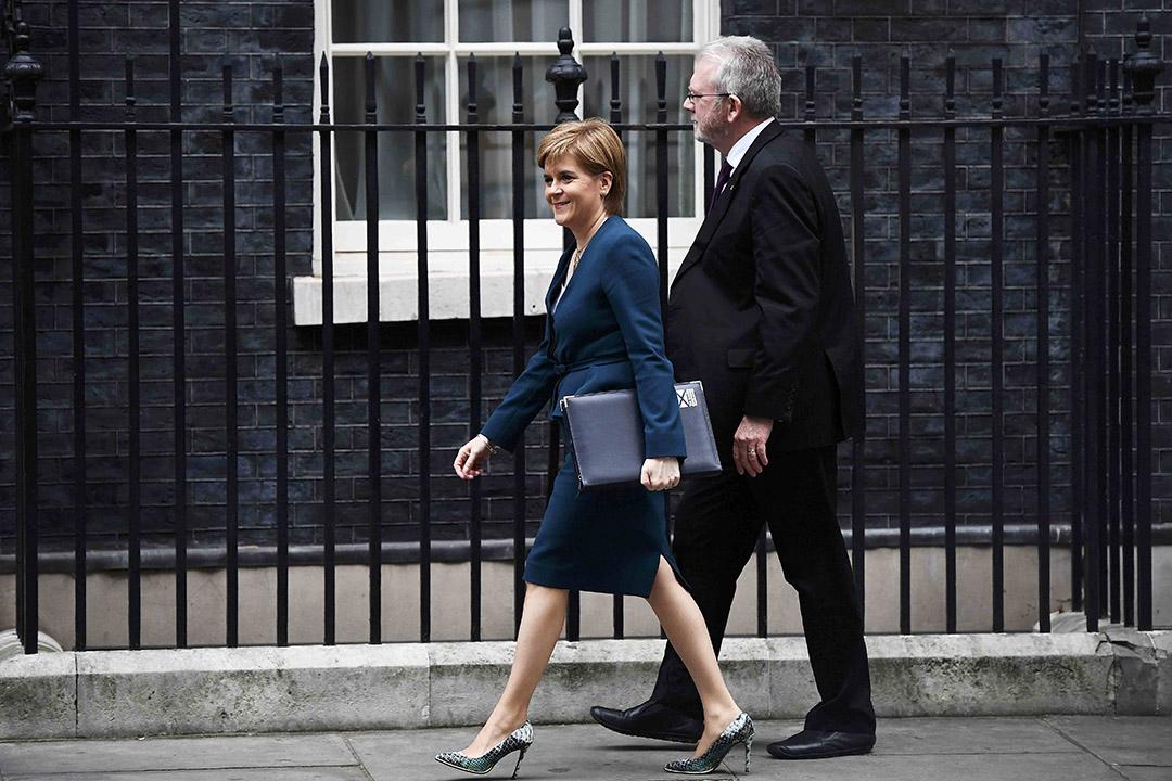 蘇格蘭首席部長尼古拉·斯特金(Nicola Sturgeon)。