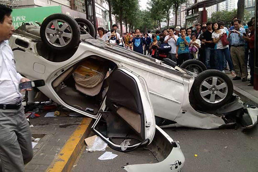 四年了,那個開日系車被「愛國青年」砸穿腦袋的中國人 。