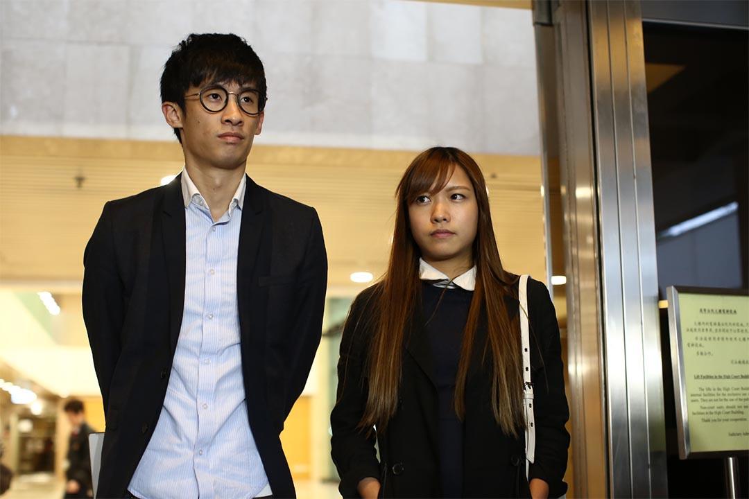 2016年11月24日,梁頌恆、游蕙禎高院司法覆核開審。