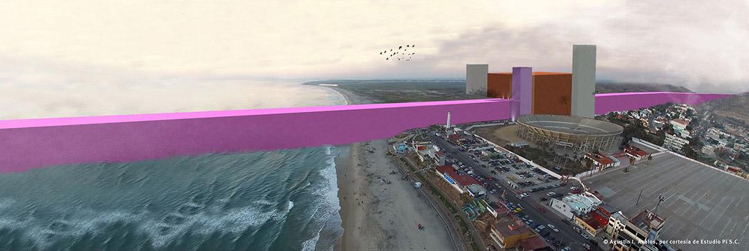 墨西哥建築團隊將特朗普(Donald Trump)的邊境墻計劃呈現出來。