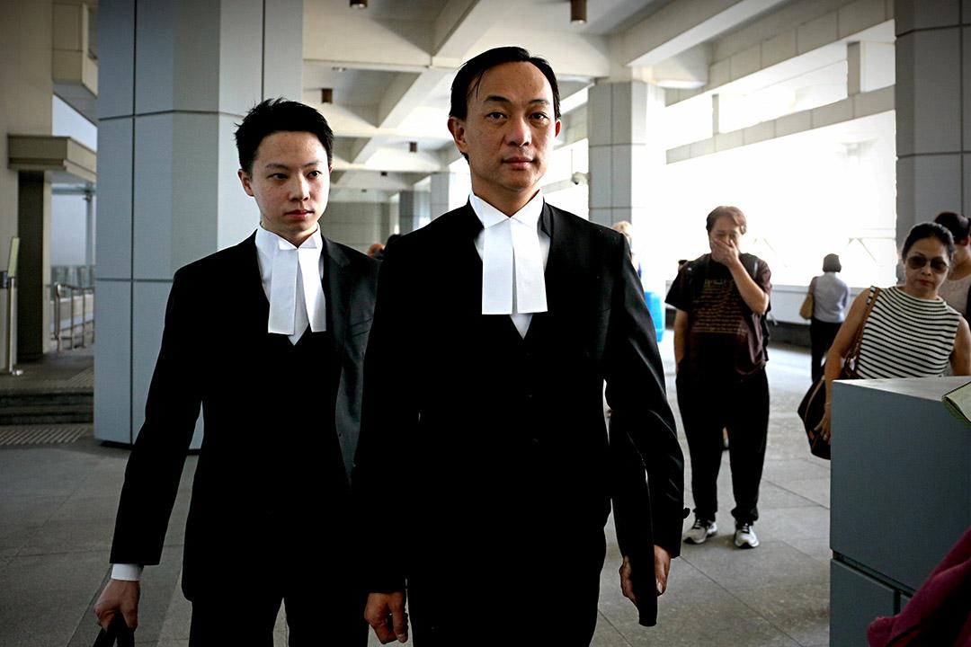 代表梁頌恆的資深大律師潘熙。