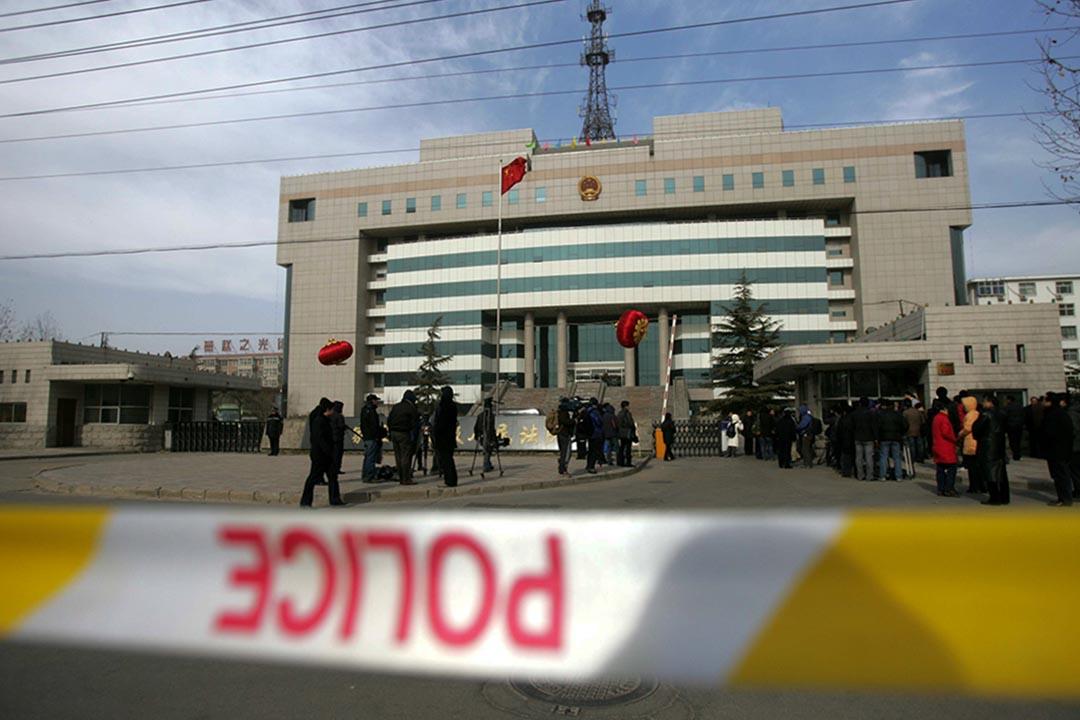 賈敬龍被執行死刑。圖為河北省石家莊市中級人民法院。