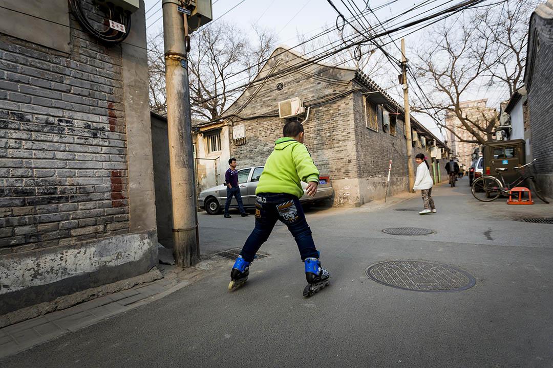 北京胡同老街區。