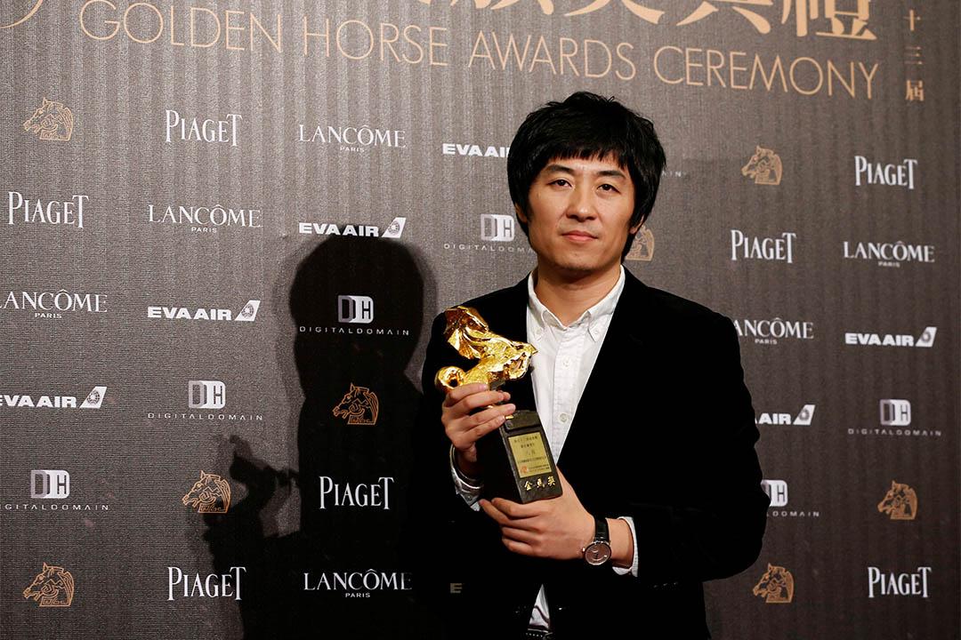 第53屆台灣金馬影展,《八月》獲頒最佳劇情片。圖為《八月》導演張大磊。