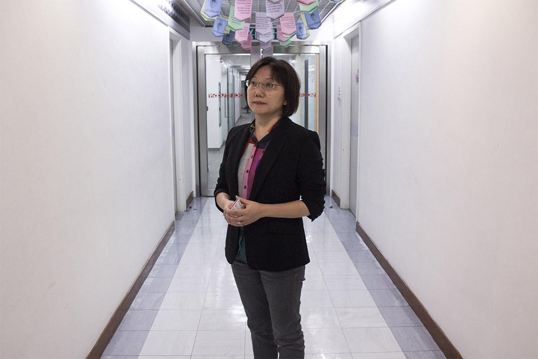 """曾是台湾九十年代""""野百合学运""""的学生领袖,积极参与""""太阳花运动""""的学者范云教授。"""