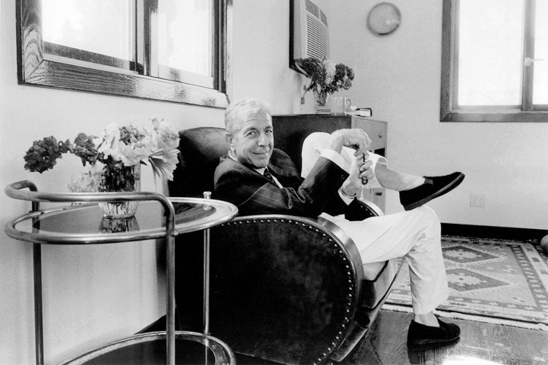加拿大傳奇民謠詩人李歐納.柯恩(Leonard Cohen, 1934-2016)。