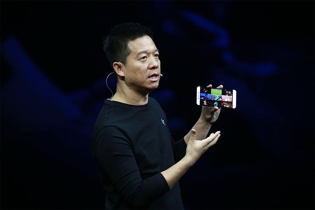 2016年4月20日,樂視CEO賈躍亭出席新品發布會。