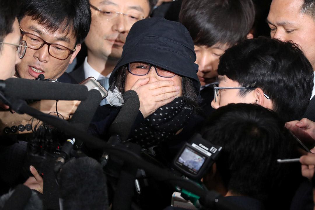 韓國檢方宣布逮捕正在接受調查的總統朴槿惠好友崔順實。