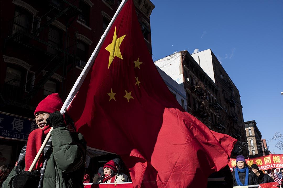 圖為2016年2月14日,美國紐約,人們在唐人街慶祝農曆新年。