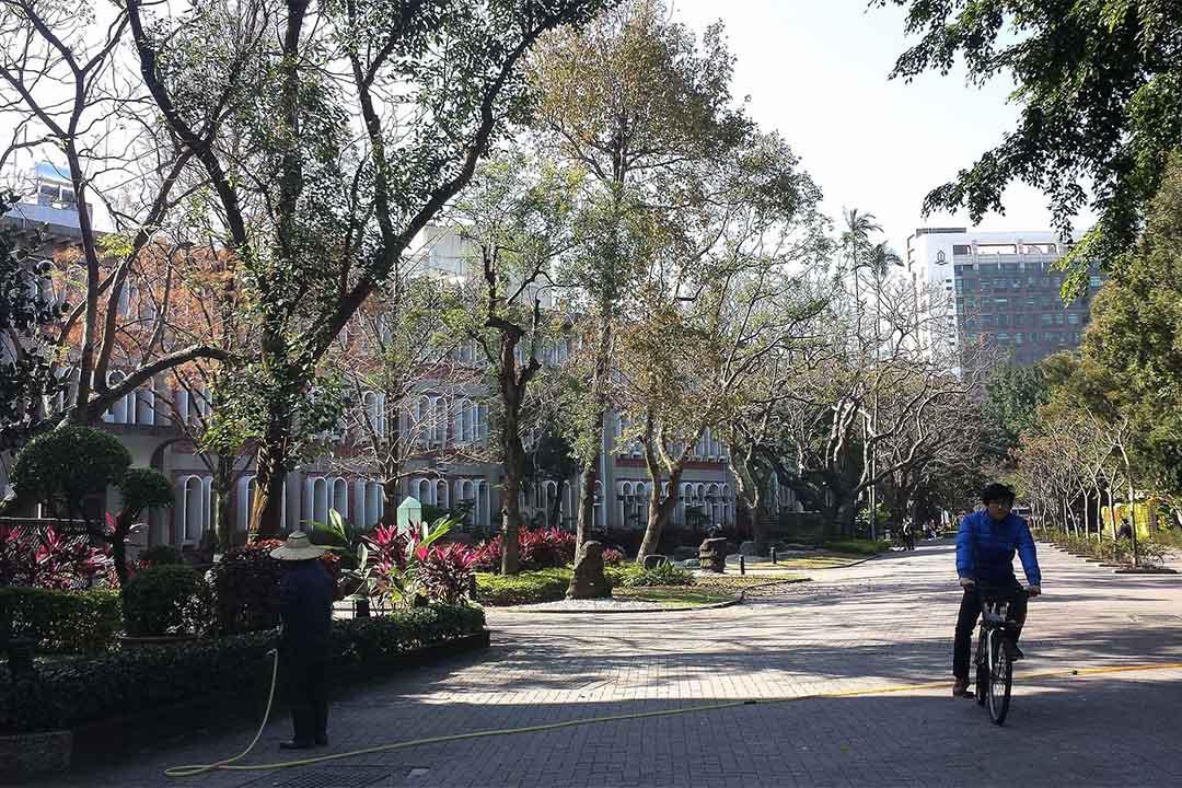 圖為台灣一所大學的校園。