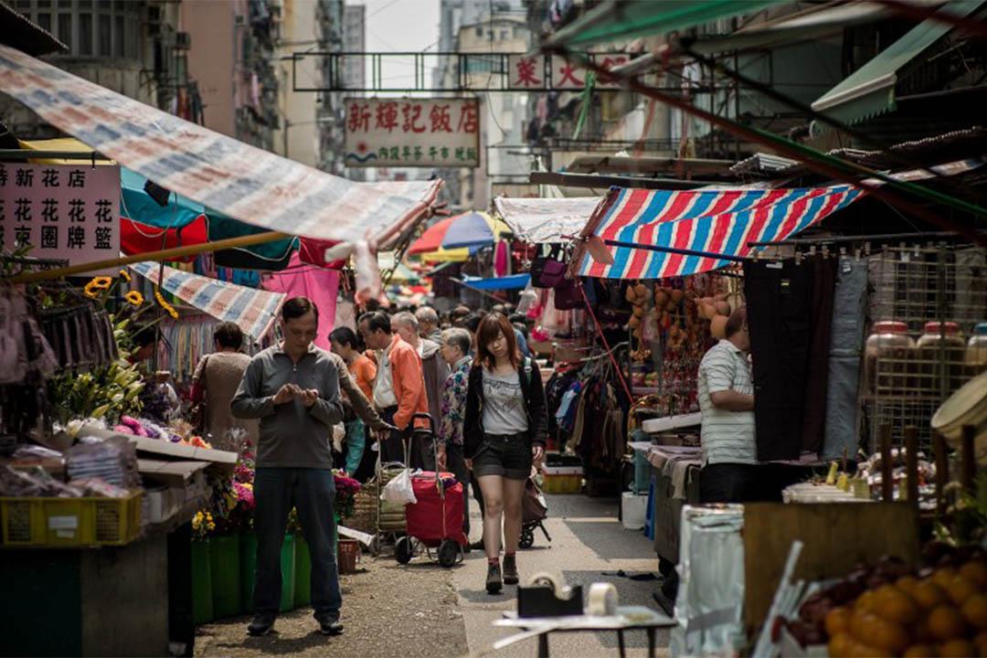 圖為香港街市。