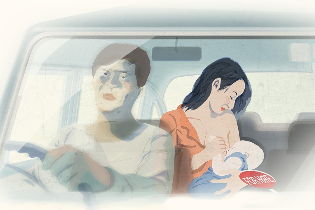 由男性開的的士,已是母乳媽媽能選擇的少數空間。