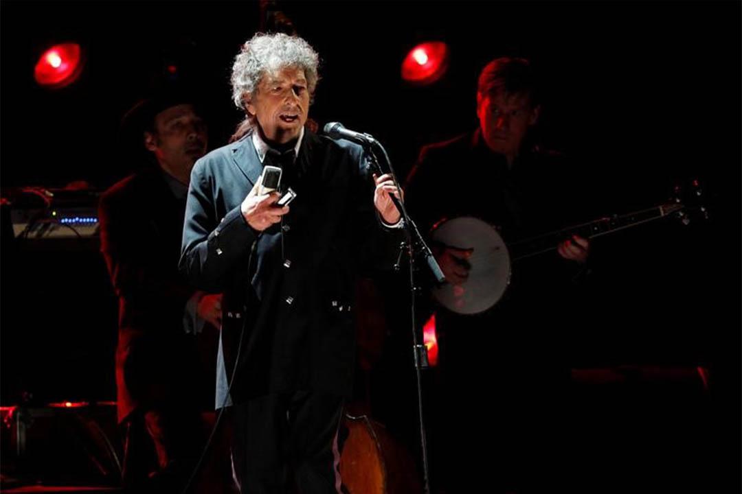 圖為2012年1月12日,Bob Dylan在美國洛杉磯表演。
