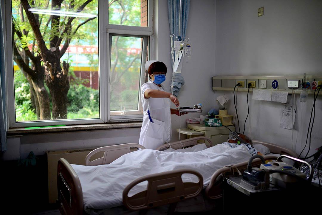 北京一家醫院的臨終關懷病房。