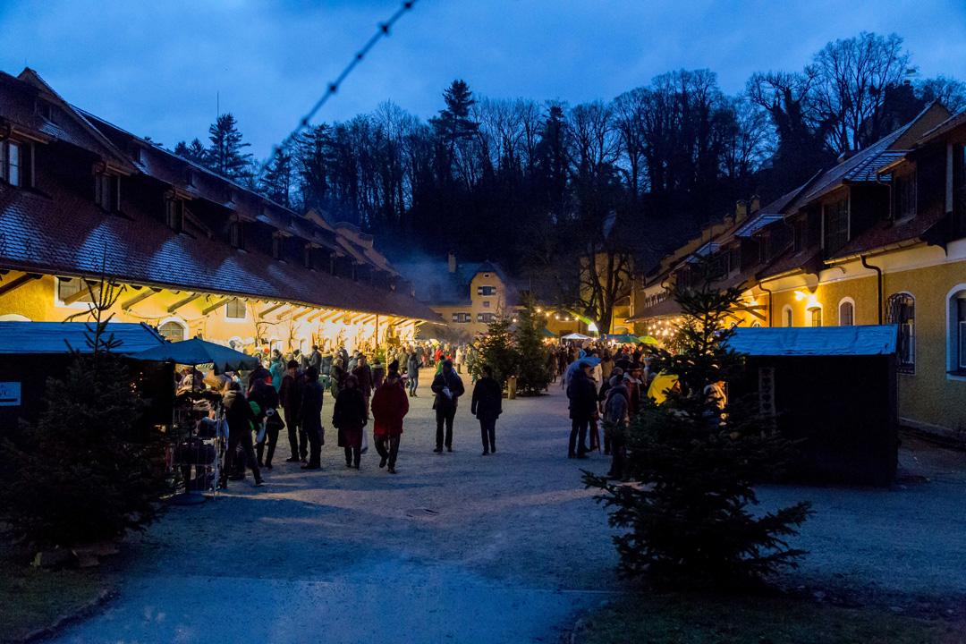 位於奧地利薩爾斯堡Glanegg的聖誕集市。