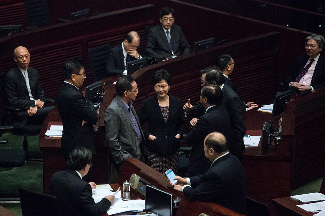 2016年7月14日,林鄭月娥出席行政長官梁振英任內最後一次答問大會。