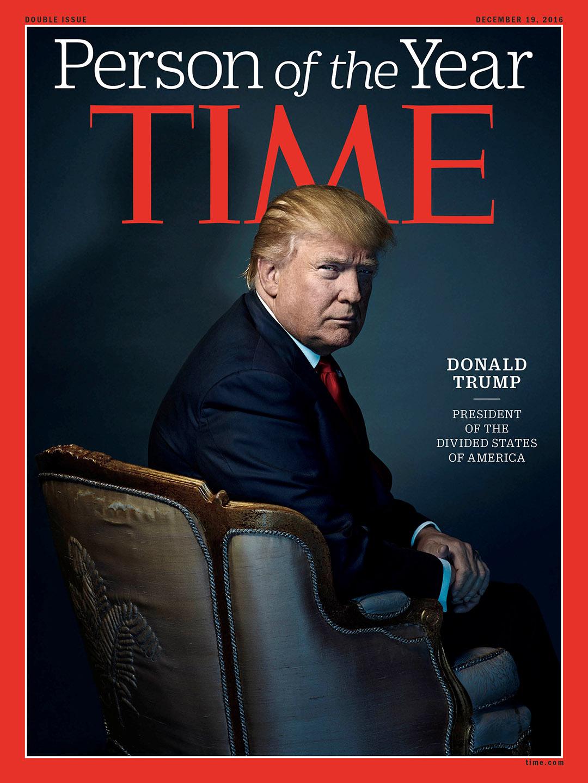 美國當選總統特朗普被美國《時代周刊》評選為2016年度人物。