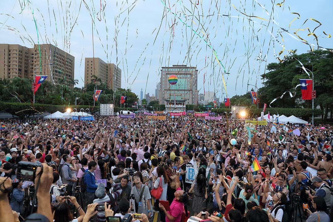 2012年,第十屆台灣同志遊行現場。