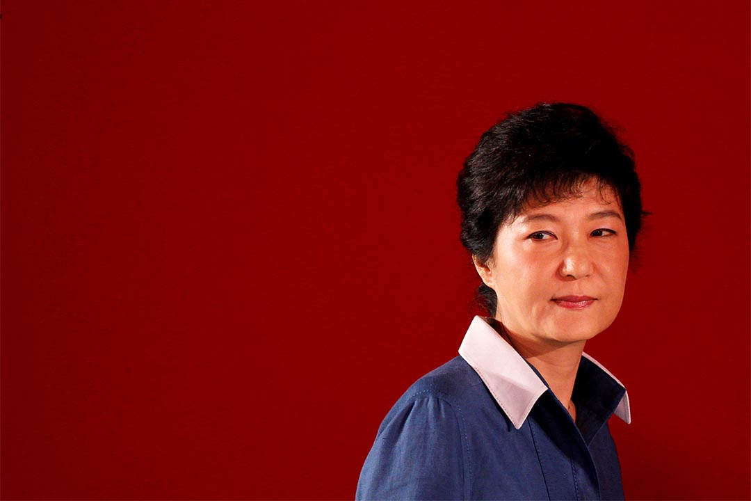 南韓國會於12月9日下午通過彈劾總統朴槿惠的動議。圖為2012年8月20日,南韓首爾,朴槿惠出席新國家黨會議。