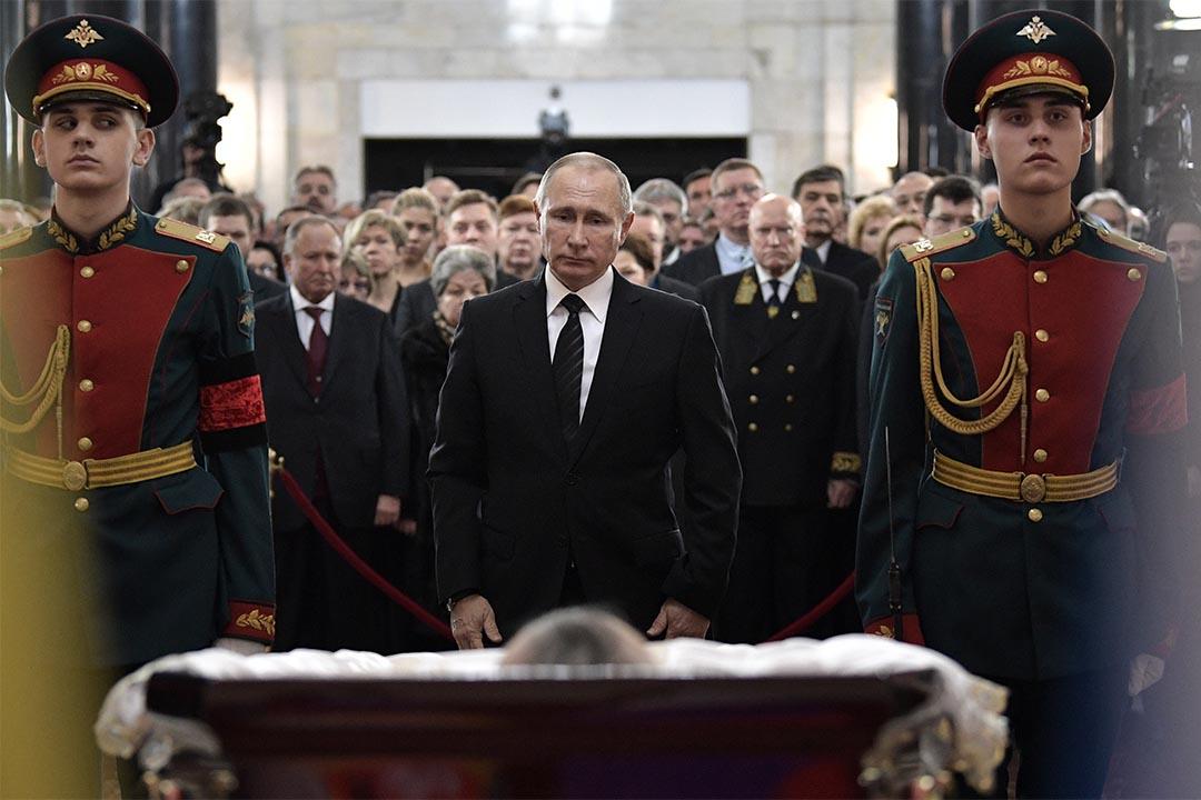2016年12月22日,俄羅斯總統普京出席駐土耳其大使Andrei Karlov的悼念儀式。