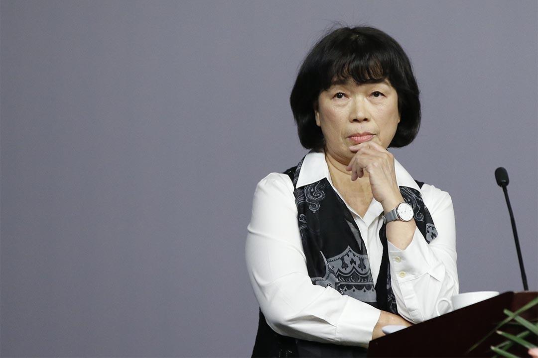 2016年1月6日,龍應台在中國金融博物館書院出席活動。