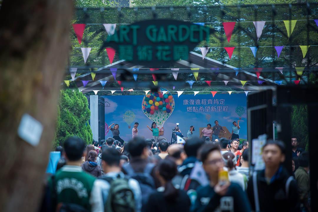 開放日有不同團體表演。