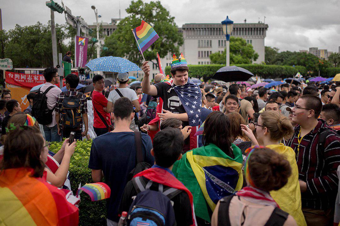 10月29日,年度同志大遊行現場。