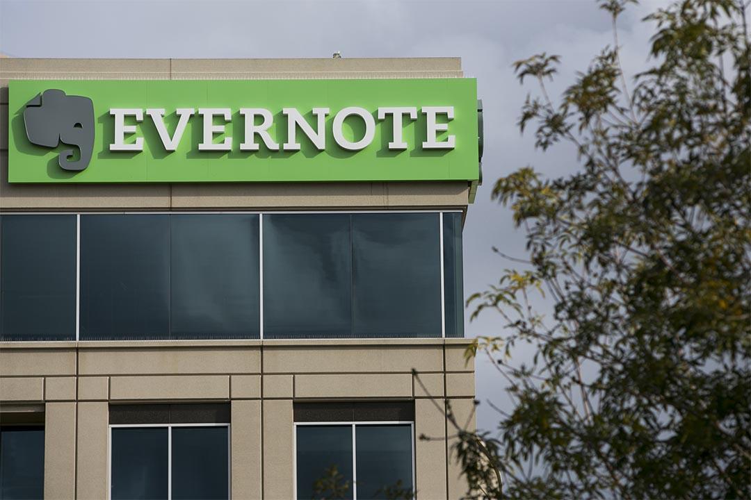 Evernote 更新隱私政策,允許僱員訪問用戶的未加密筆記。圖為Evernote於加州總部的標誌。