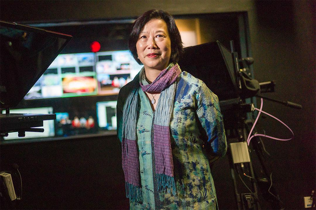 2007年獲得奧斯卡最佳紀錄短片獎的楊紫燁教授(Ruby Yang)。