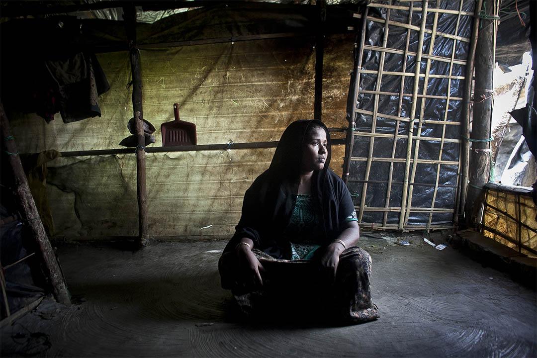 國際特赦組織批評緬甸軍隊對羅興亞人的行為是「反人類罪」。圖為一個身處孟加拉的羅興亞人。