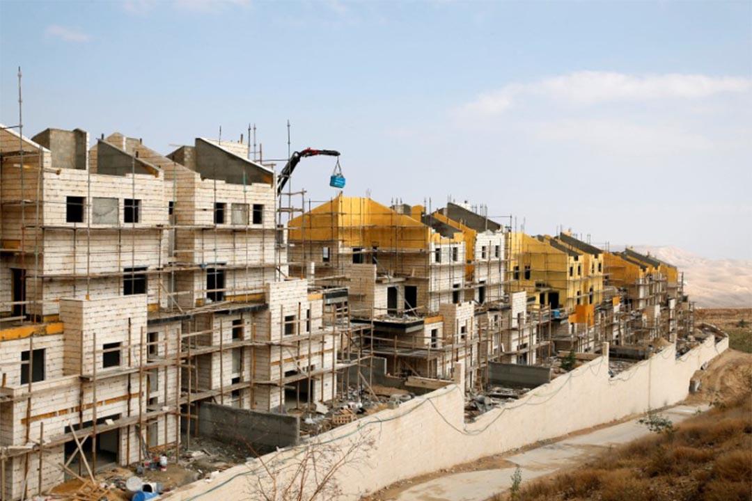 2016年12月28日,以色列殖民區的建築物。