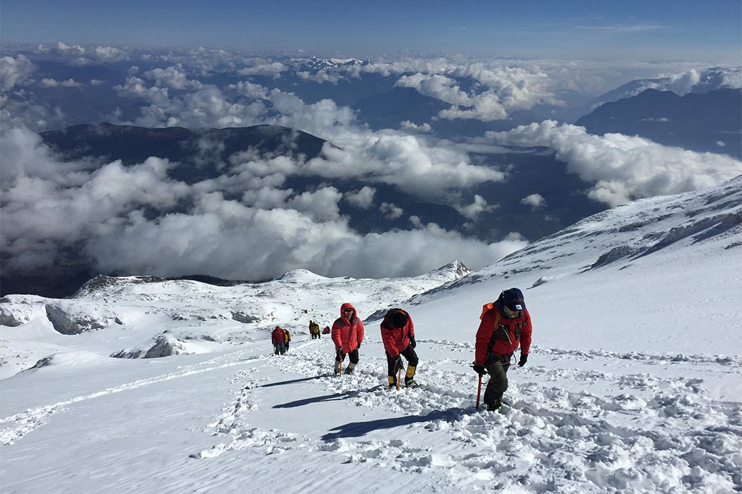 宋紅參與的登山團隊。