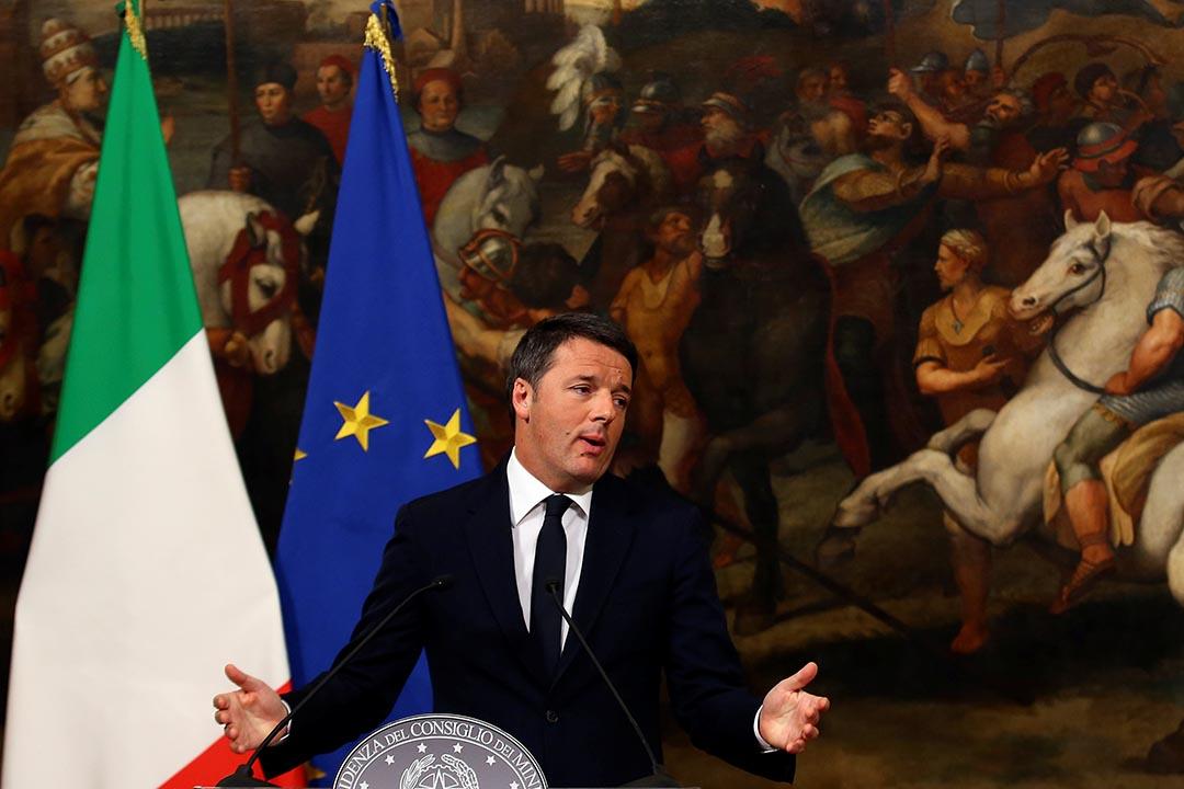 意大利總理倫齊宣布將辭職。