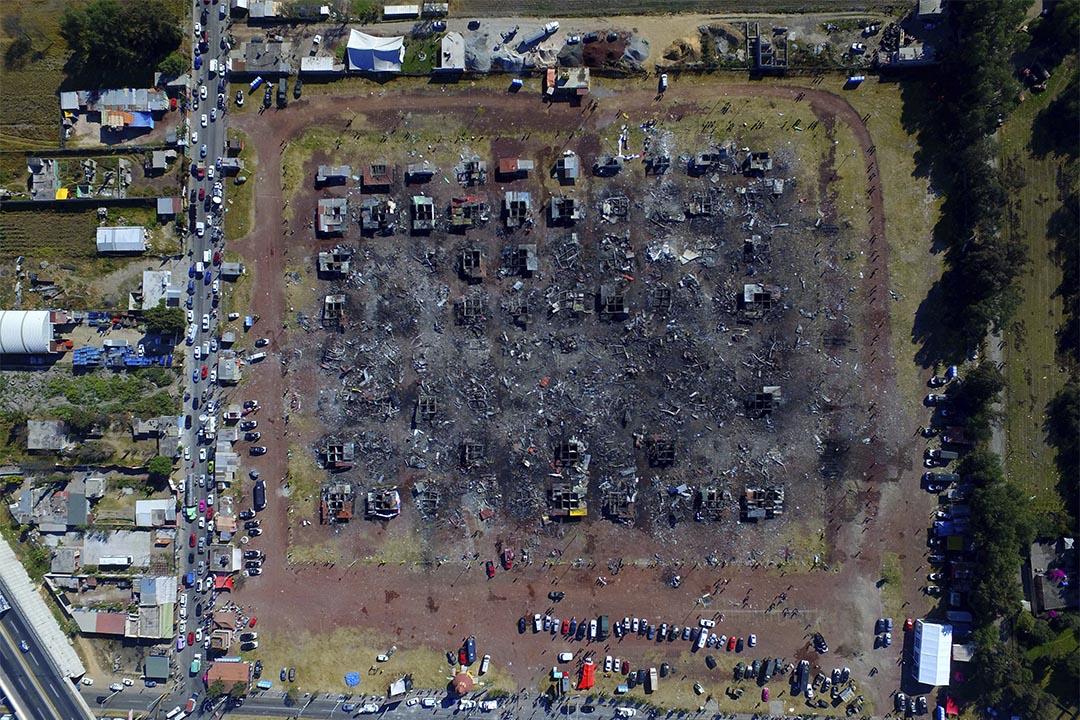2016年12月21日,墨西哥,一個煙花市場爆炸後一天。