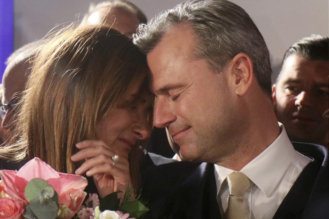 奧地利大選極右翼候選人霍費爾(Norbert Hofer)在選舉中落敗。