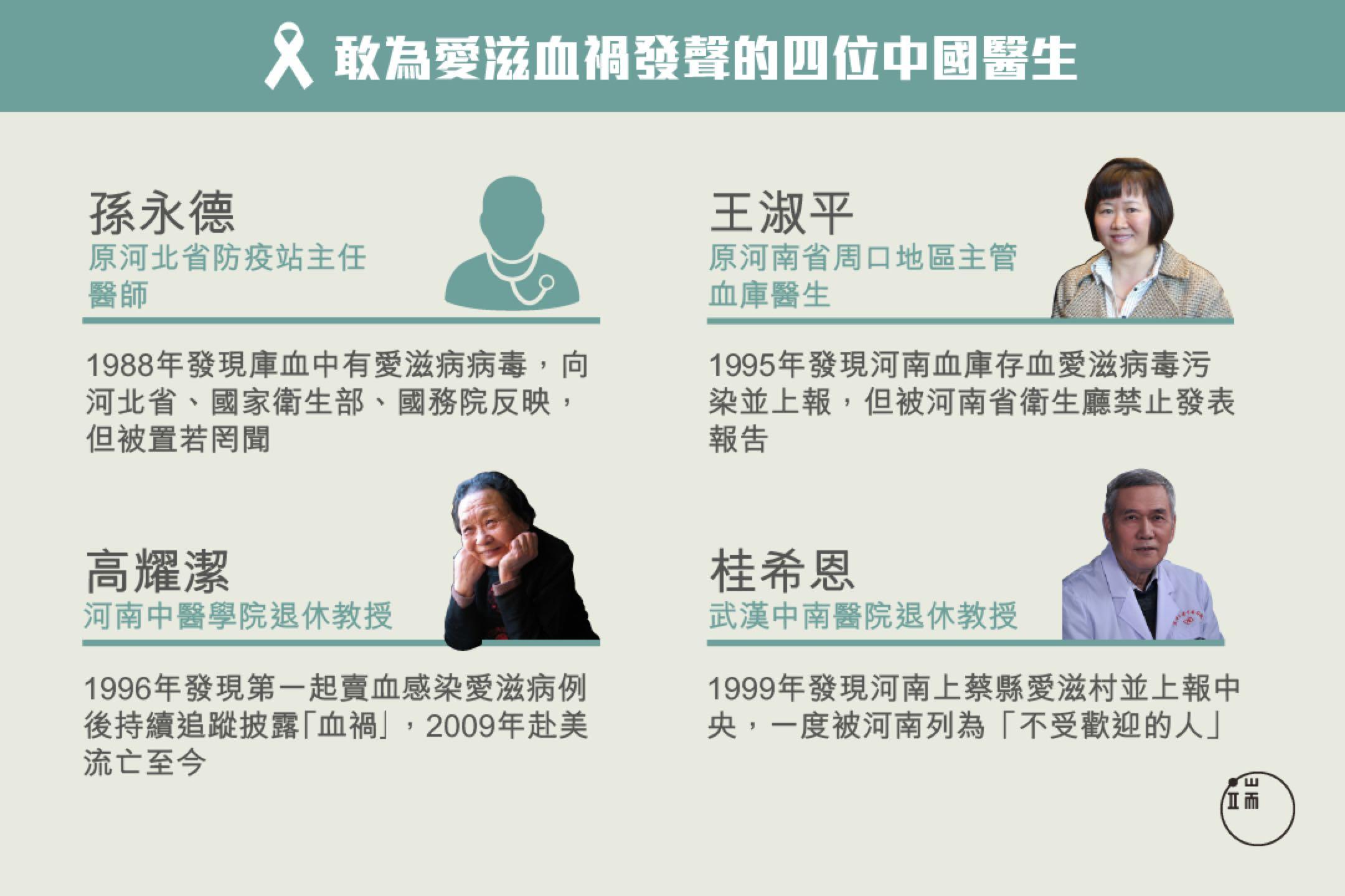 高耀潔說:「中國醫學界的醫生那麼多,目前我知道的站出來的醫務界人士也就這麼幾位吧,非常可悲。」
